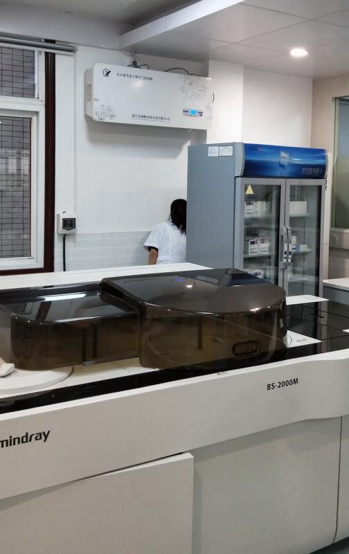 潜江市中医院检验科使用平板式等离子体空气消毒机